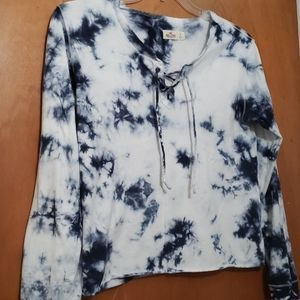 Hollister tiedyed cropped long sleeve